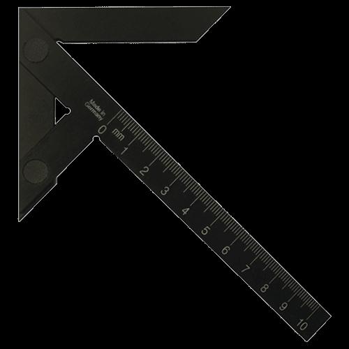 Zentrierwinkel aus gehärtetem Aluminium, mm-Teilung, RL11