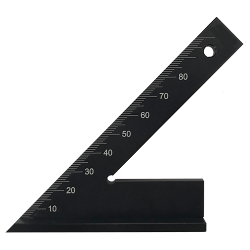 acute angle 45 degrees with stop, DIN 875/1 made of hardened aluminium