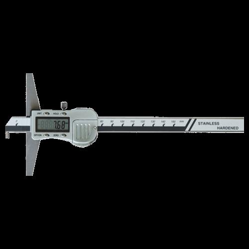 Digitaler Tiefenmessschieber mit Haken, Metallgehäuse, Din 862, Typ 6043