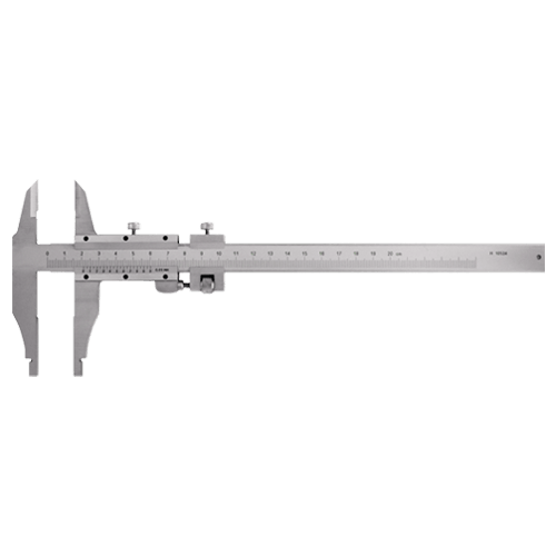 Workshop caliper with tips and fine adjustment, type AZC 46