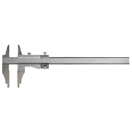 Workshop caliper with tips and fine adjustment, DIN 862, type AZC 49