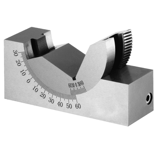 Angular prism, fine adjustable with worm gear