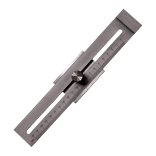 Streichmaß aus rostfreiem Stahl, flache Ausführung