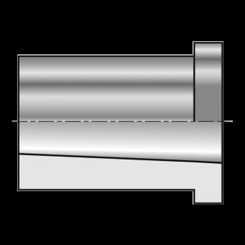 Zylindrische Kegelhülse mit Bund und Innenkegel