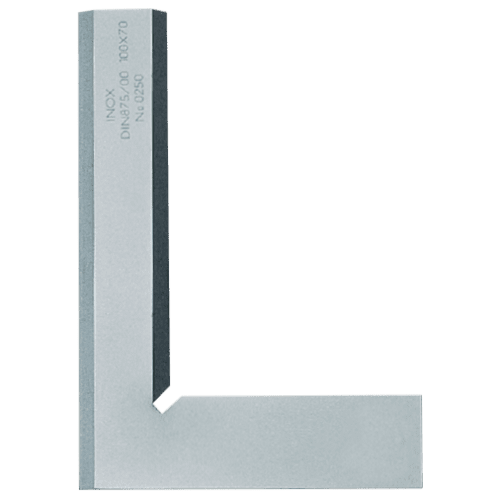Bevel edge square without back, Inox, DIN 875